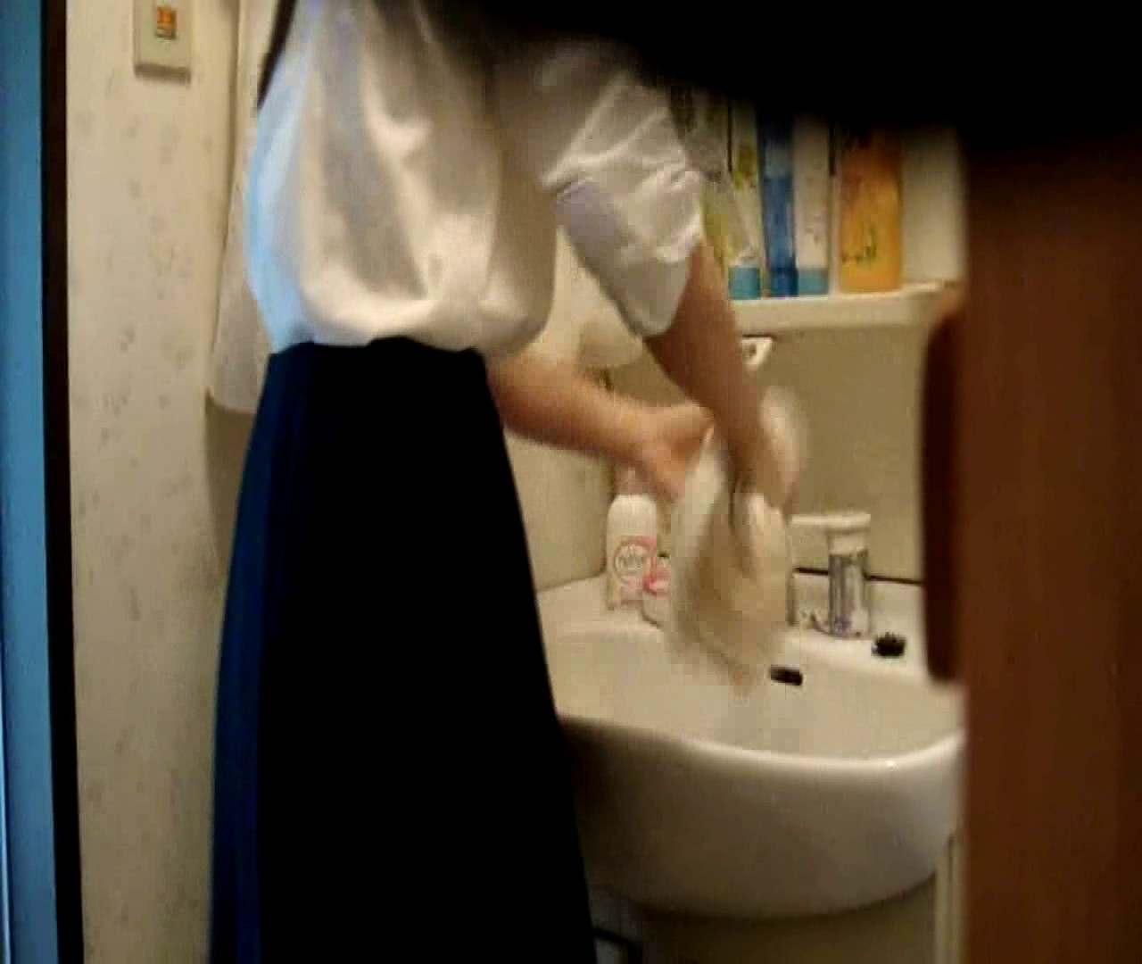 vol.5 まどかが帰宅後の洗顔後にブラを洗ってます。 いじくり  21画像 16