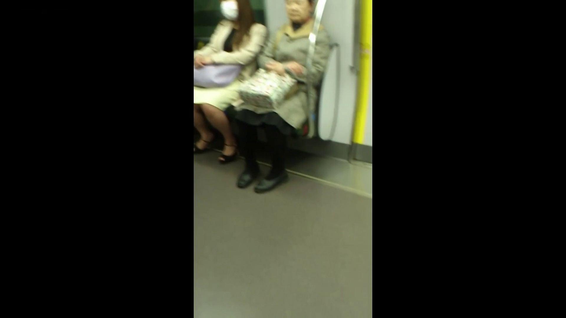 盗撮列車 Vol.55 黄色の爽やかなスカートが大好きです。 車の中 セックス画像 53画像 53