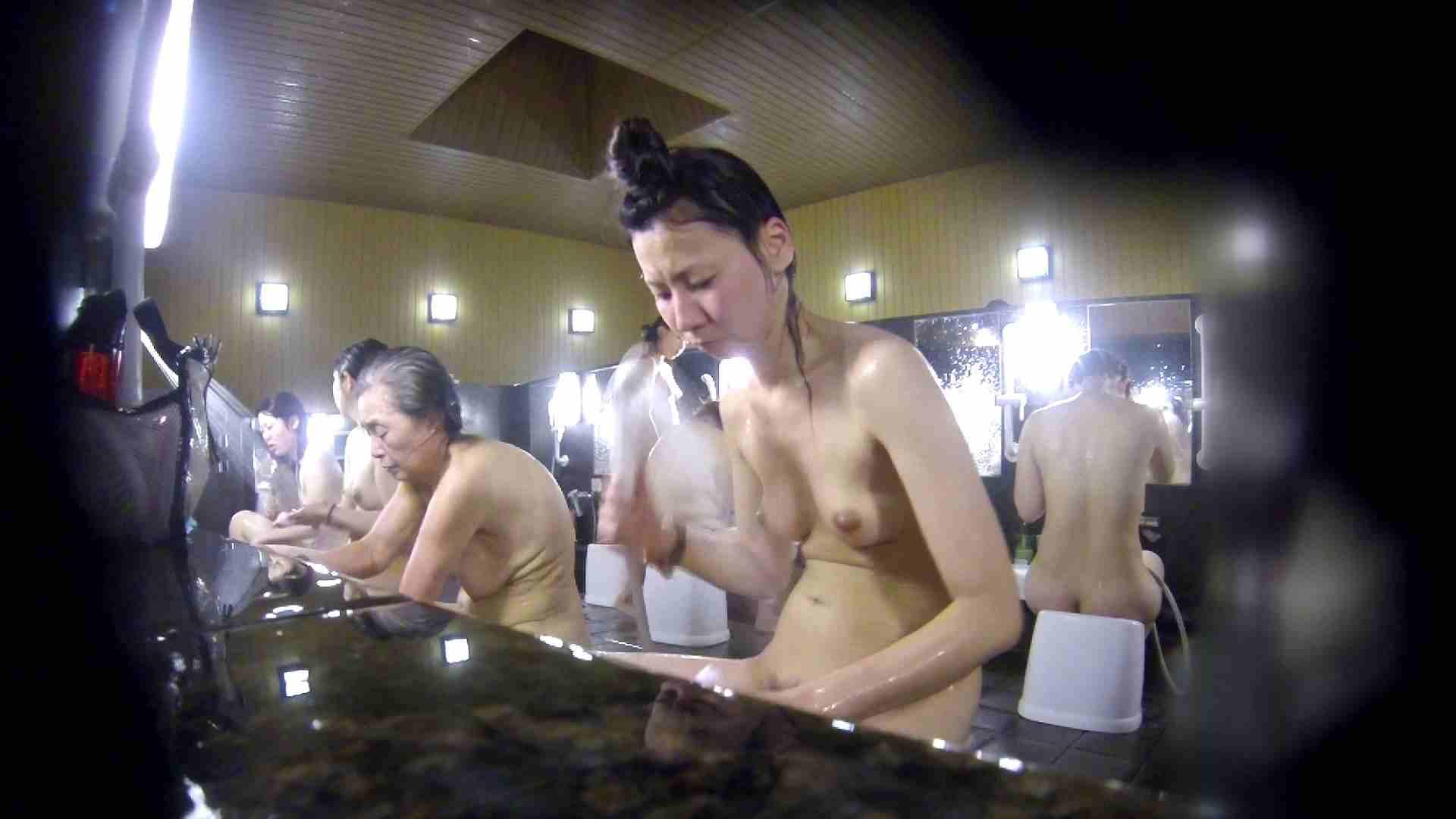 洗い場!だんご結びのお女市さん、色素が薄いです。 細身・スレンダー ワレメ無修正動画無料 67画像 8