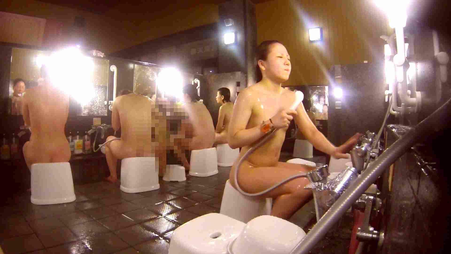 洗い場!貧乳ケバギャル発見! 女湯の中 濡れ場動画紹介 56画像 15