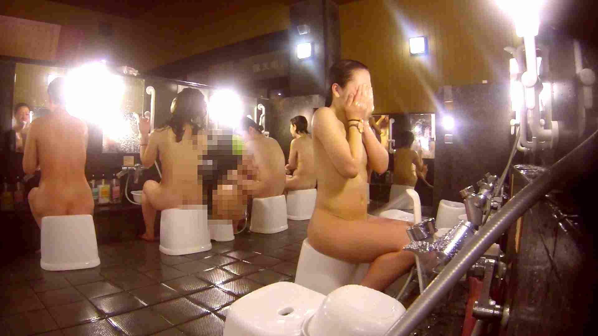洗い場!貧乳ケバギャル発見! 貧乳 オマンコ動画キャプチャ 56画像 28
