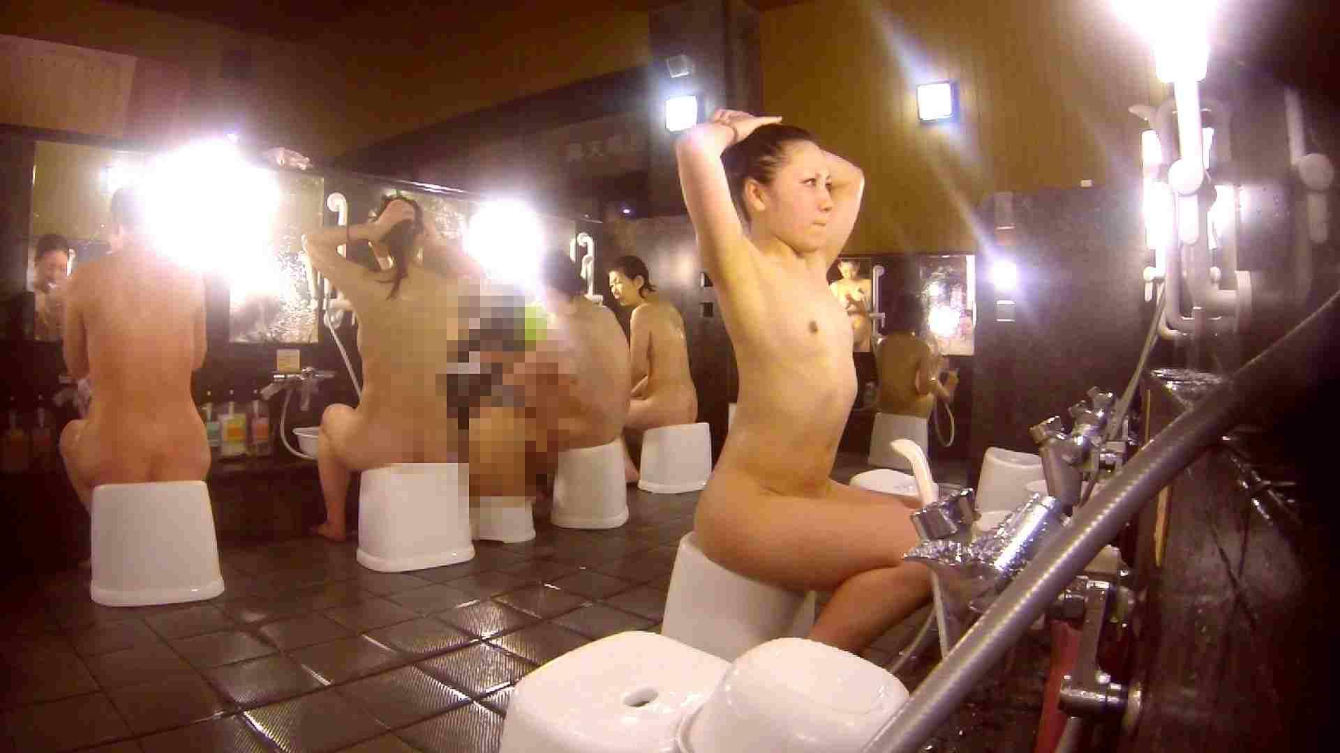 洗い場!貧乳ケバギャル発見! 細身・スレンダー ヌード画像 56画像 38