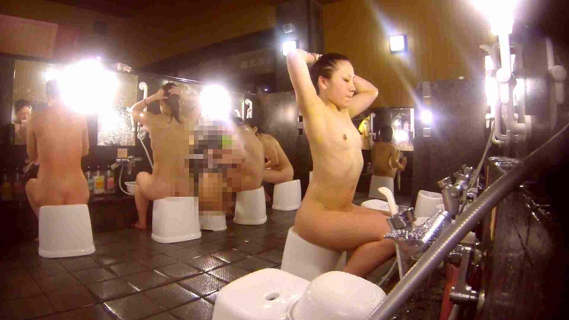 洗い場!貧乳ケバギャル発見! 女湯の中 濡れ場動画紹介 56画像 39