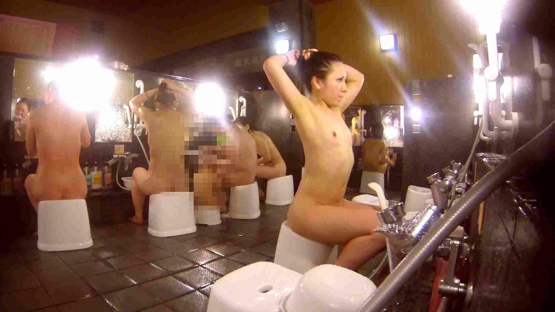 洗い場!貧乳ケバギャル発見! 貧乳 オマンコ動画キャプチャ 56画像 40