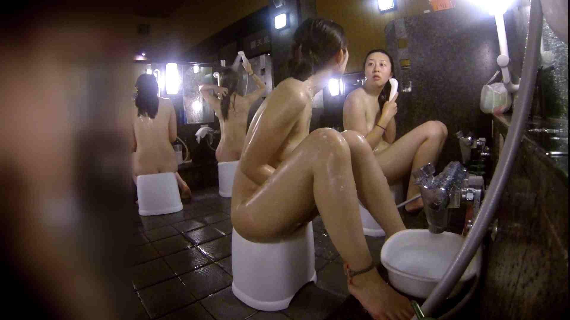 洗い場!地味目の女の子2人組。ずっと話しながら洗ってます。 細身・スレンダー セックス無修正動画無料 55画像 4